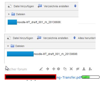 Fortschrittsdartstellung beim Dateiupload